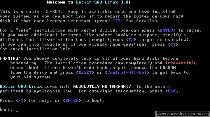 Screenshot linux debian debian30 01