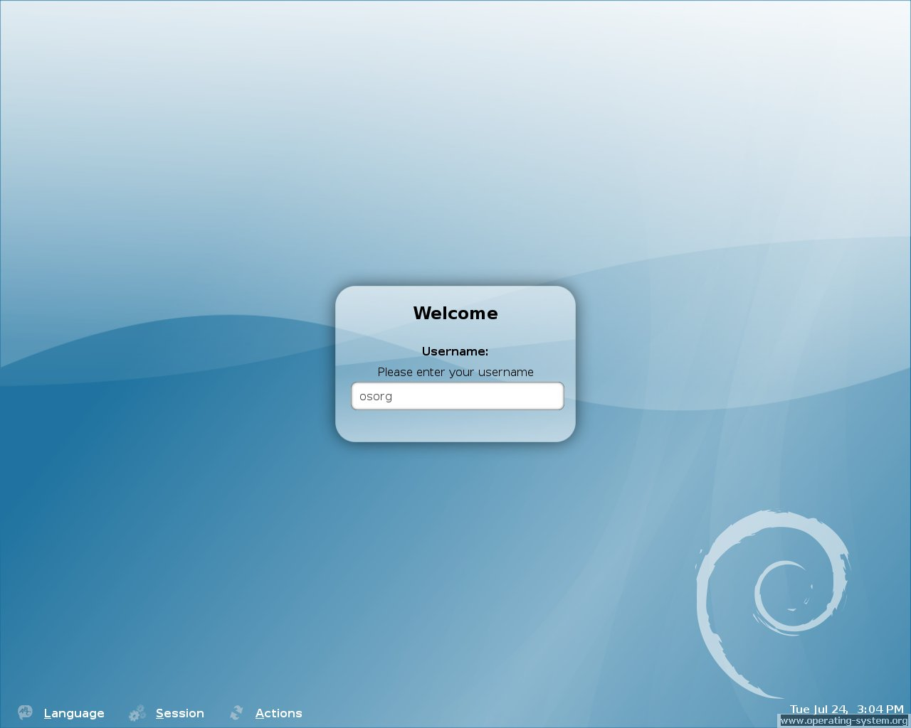 Screenshot linux debian debian40 10