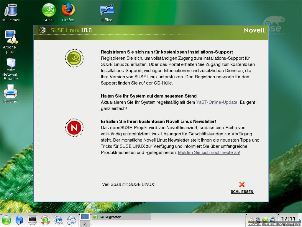 Screenshot linux suse suse100 14