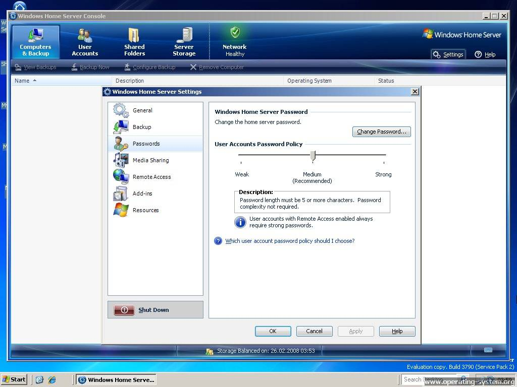Screenshot microsoft server windows home server 07