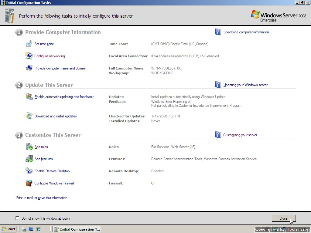 Screenshot microsoft server windows server 2008 18