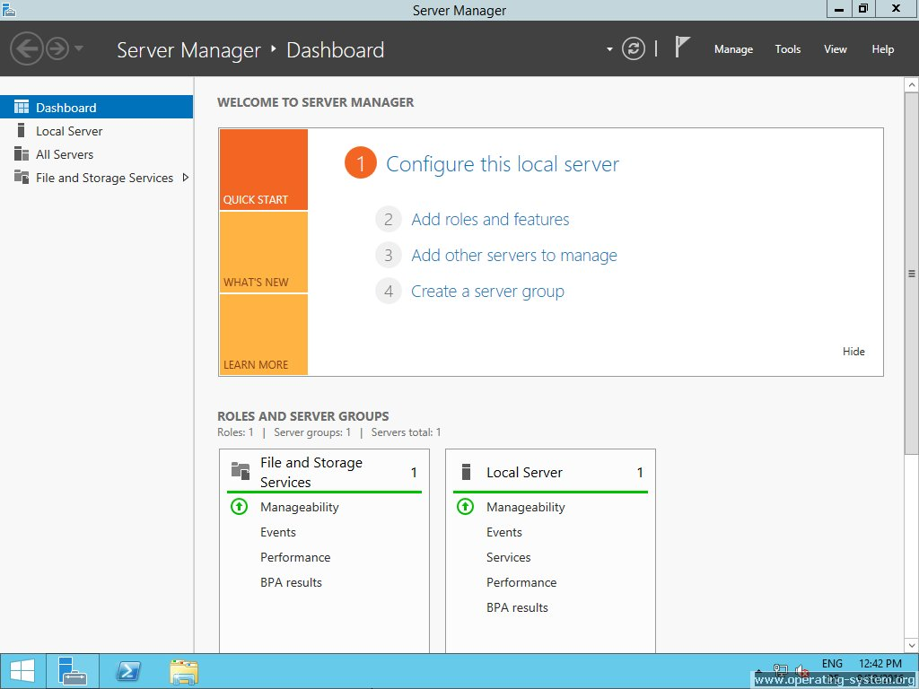 Screenshot microsoft server windows server 2012R2 12