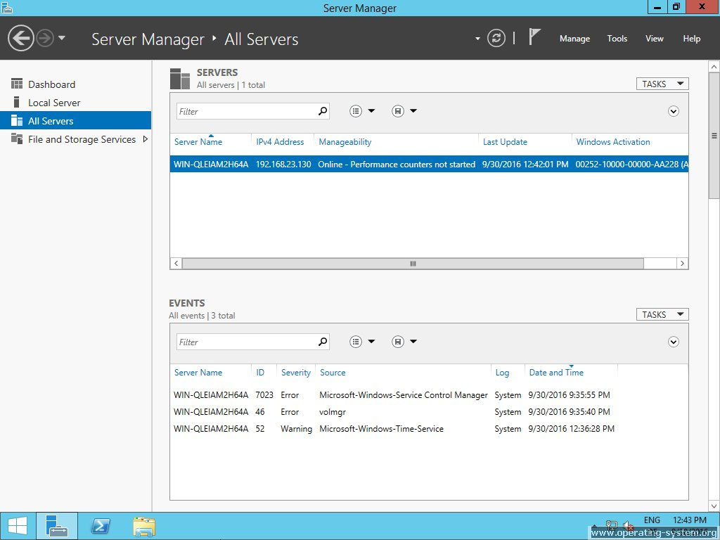 Screenshot microsoft server windows server 2012R2 15