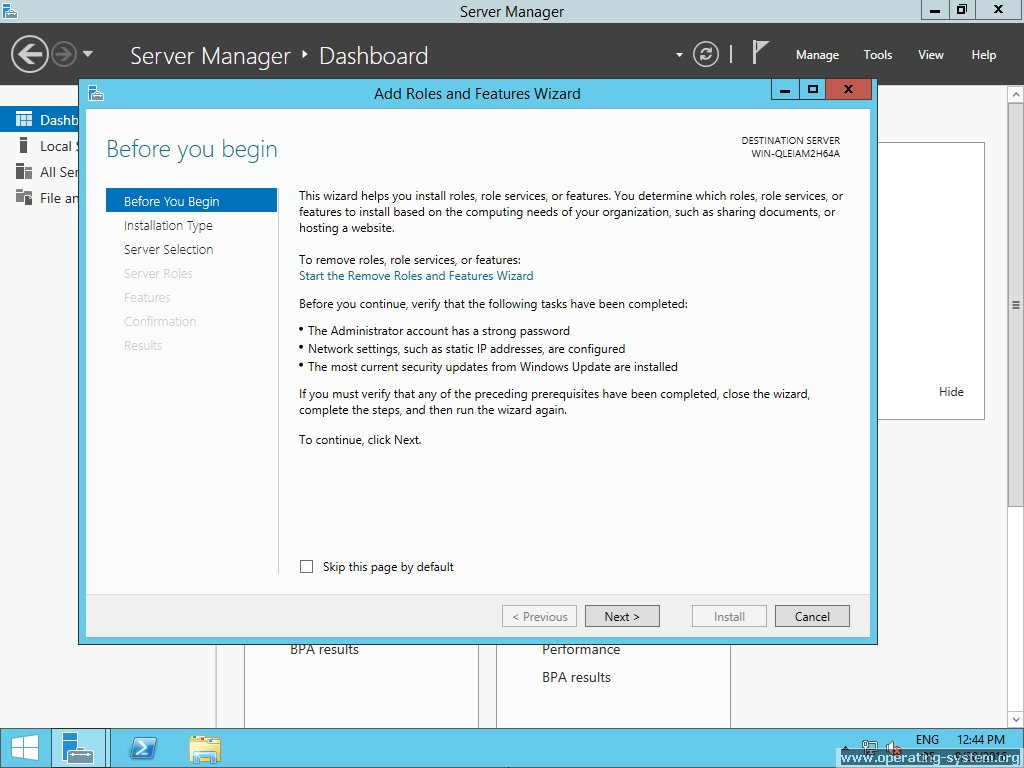 Screenshot microsoft server windows server 2012R2 17