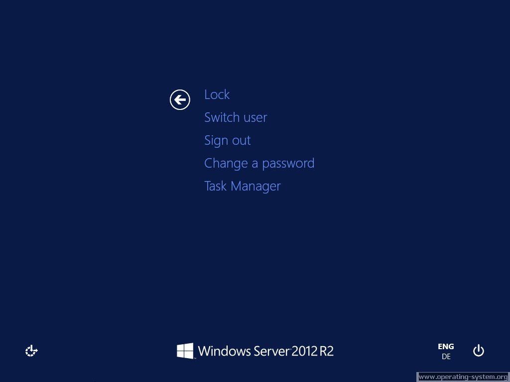 Screenshot microsoft server windows server 2012R2 34