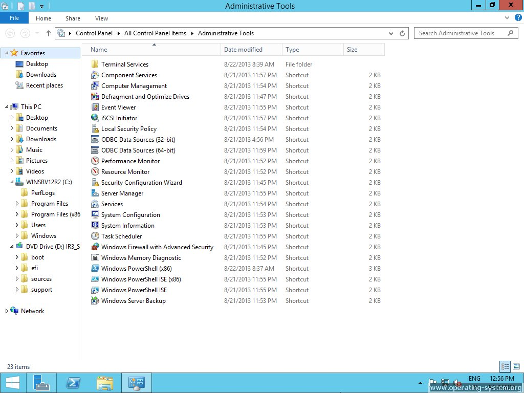 Screenshot microsoft server windows server 2012R2 36