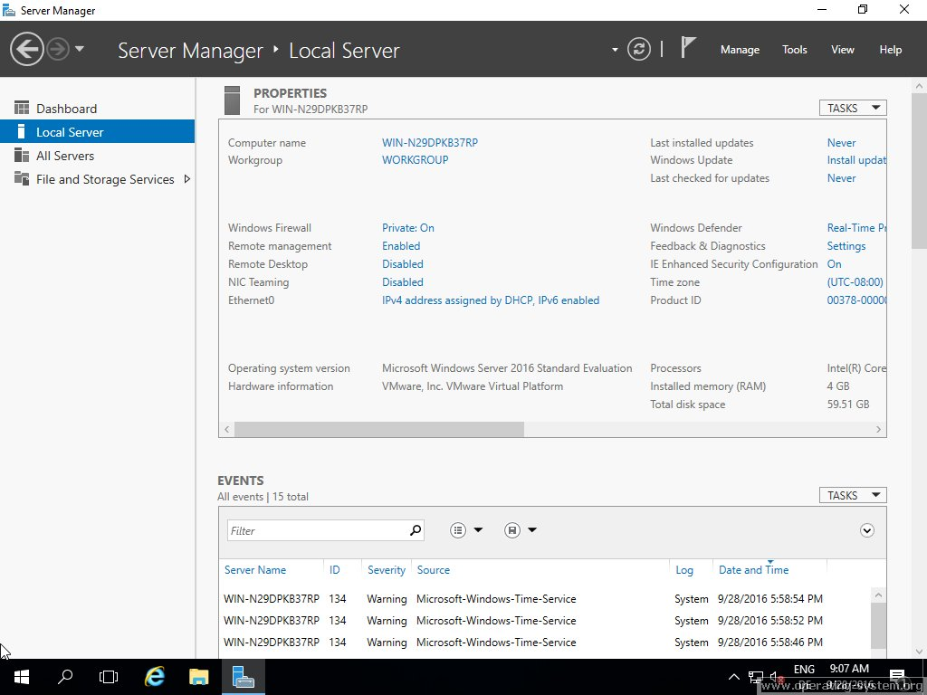 Screenshot microsoft server windows server 2016 14