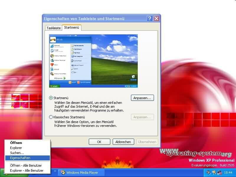 Screenshot microsoft whistlerxp 12a