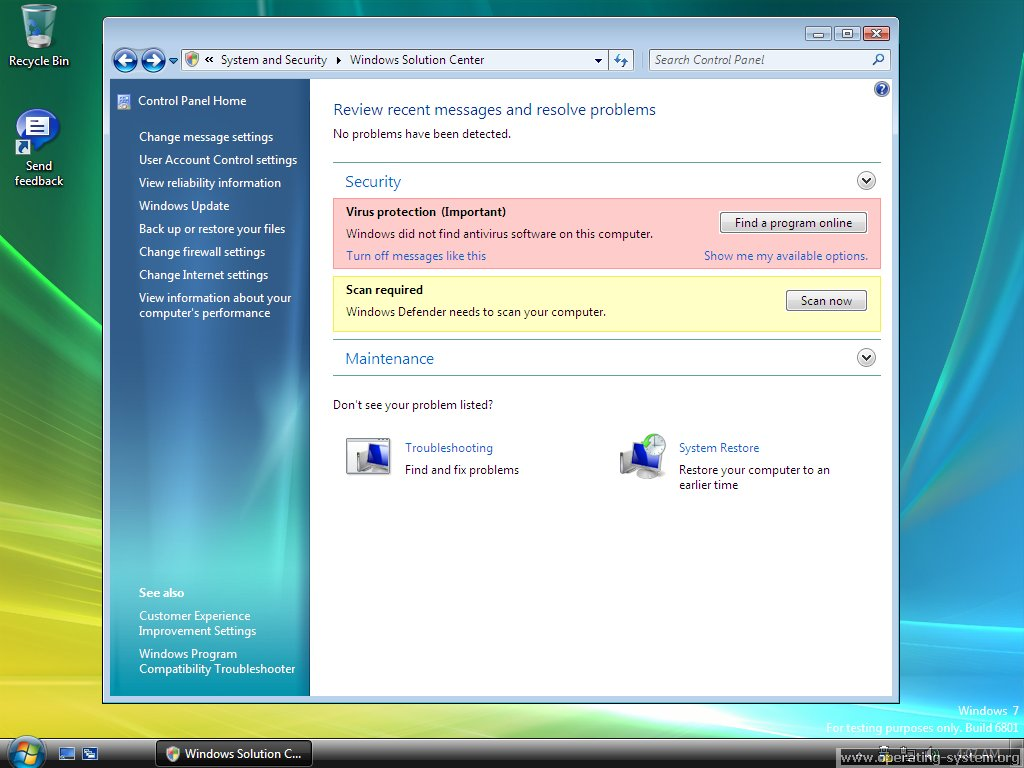 Screenshot microsoft win7 windows7 6801 08