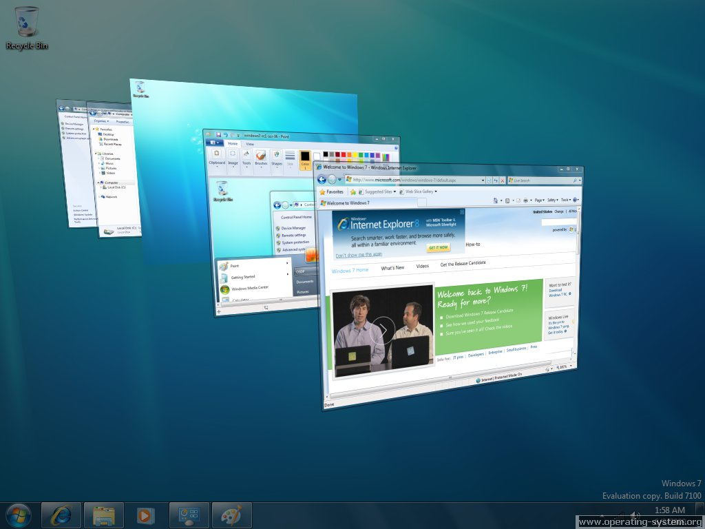 Screenshot microsoft win7 windows7 rc 13