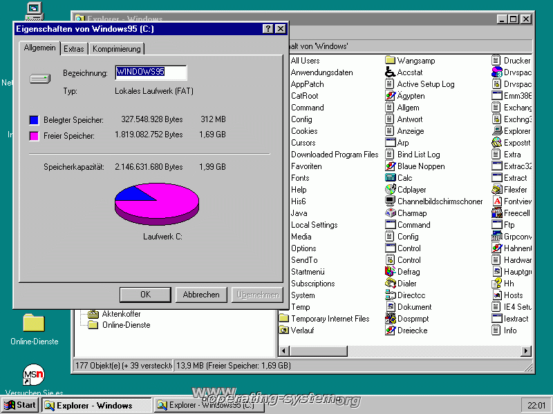 Screenshot microsoft win95c win95c 12