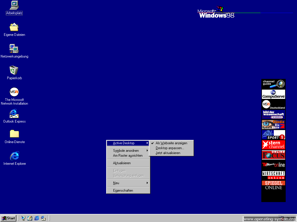 Screenshot: microsoft windows98 03