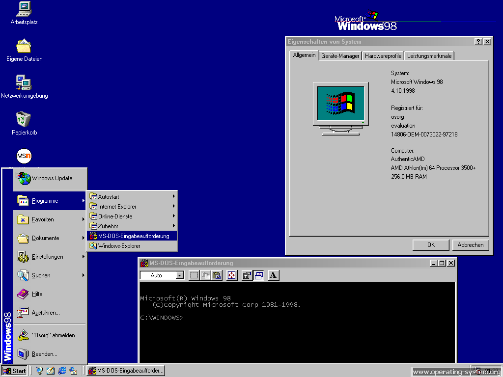 Screenshot microsoft windows98 07