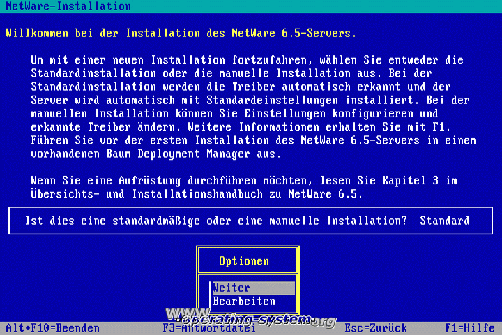 Screenshot novell netware65 03