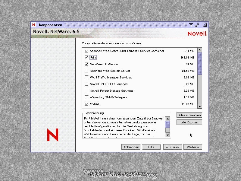 Screenshot novell netware65 07