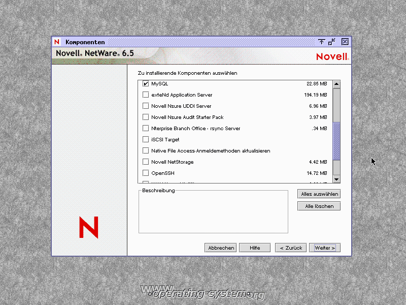 Screenshot novell netware65 08