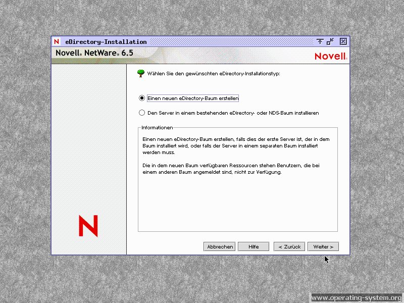 Screenshot novell netware65 15